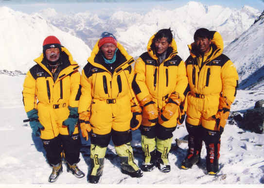 Sherpa team Everest Hardwear Suits