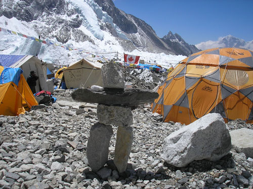 Peak Freaks Everest BC Inukshuk
