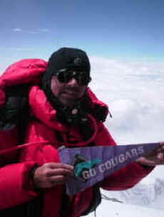 Larry Williams Everest summit photo 2008
